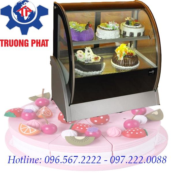 Tủ trưng bày bánh kem để bàn tiết kiệm diện tích tối đa
