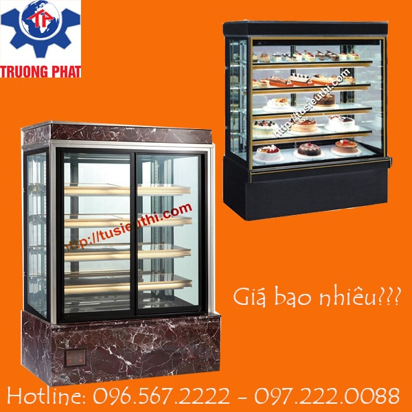 Tủ trưng bày bánh kem dạng kính đứng giá bao nhiêu?