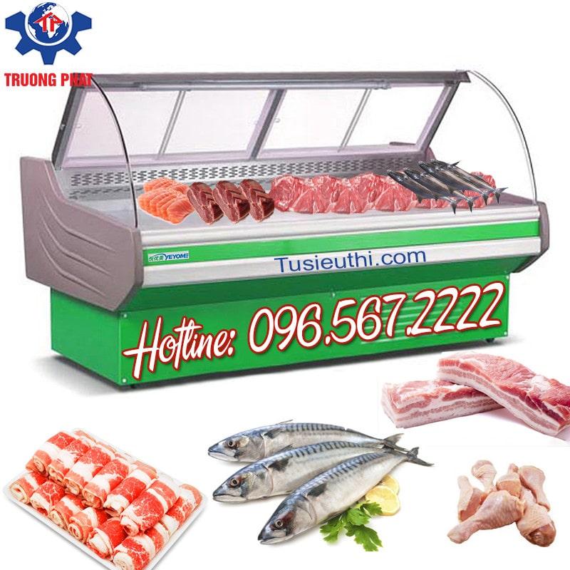 Tủ trưng bày thịt cá tươi sống cho siêu thị