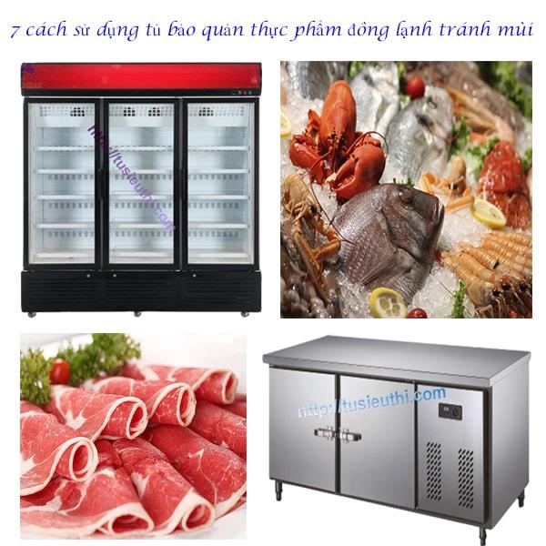 7 cách sử dụng tủ bảo quản thực phẩm đông lạnh tránh mùi
