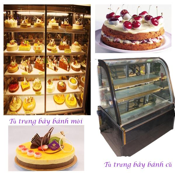 Tủ trưng bày bánh kem thanh lý làm giảm thẩm mỹ trưng bày