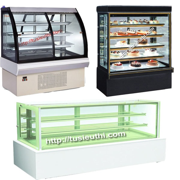 Tủ trưng bày bánh kem thanh lý dễ tạo sương trên mặt kính