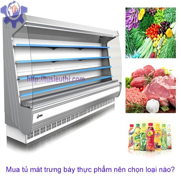 Mua tủ mát trưng bày thực phẩm nên chọn loại nào?