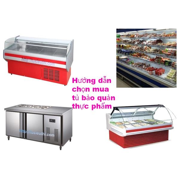 Hướng dẫn chọn mua tủ bảo quản thực phẩm