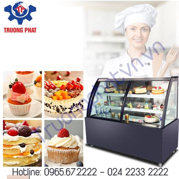 Tủ trưng bày bánh kem tốt làm bằng chất liệu gì?