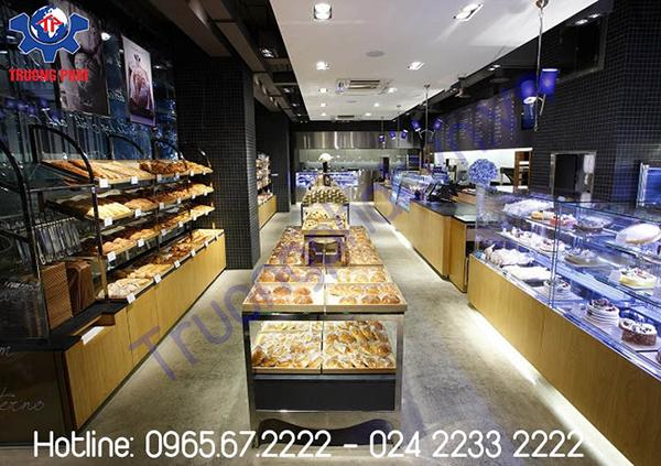 Tuyệt chiêu bố trí tủ trưng bày bánh bắt mắt cho cửa hàng