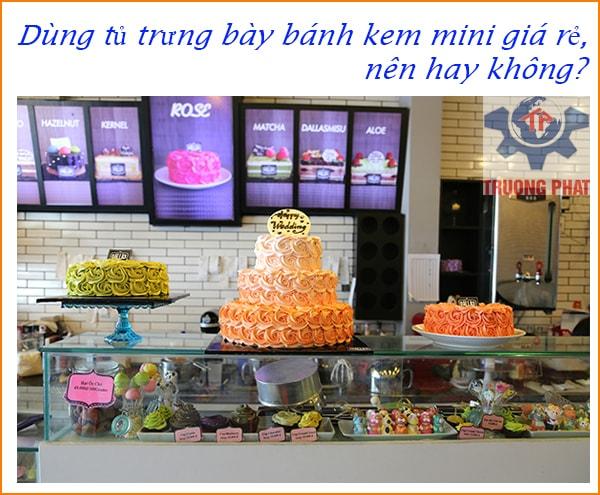 Dùng tủ trưng bày bánh kem mini giá rẻ, nên hay không?