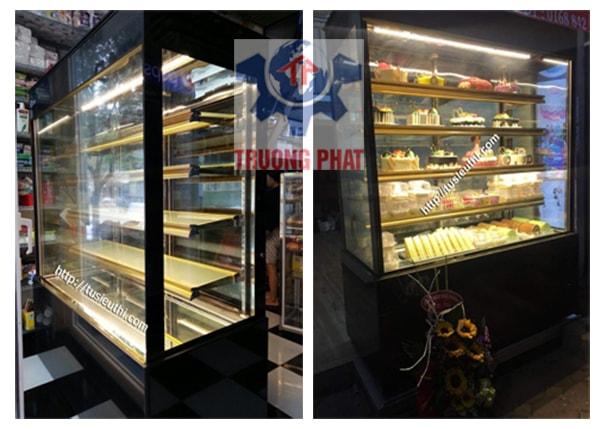 Tủ trưng bày bánh ngọt kính đứng Trường Phát