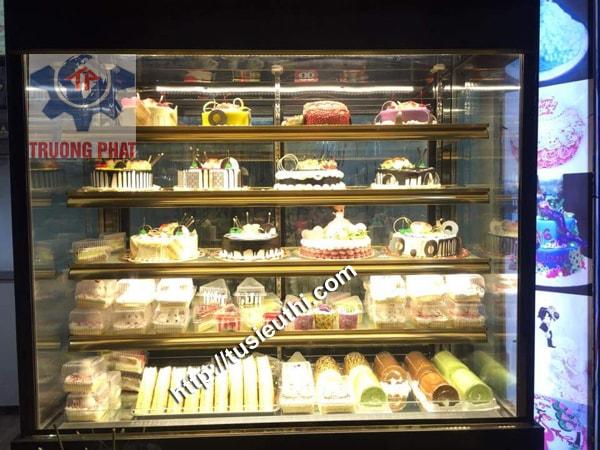 Tủ trưng bày bánh ngọt kính đứng 5 tầng DL-1500