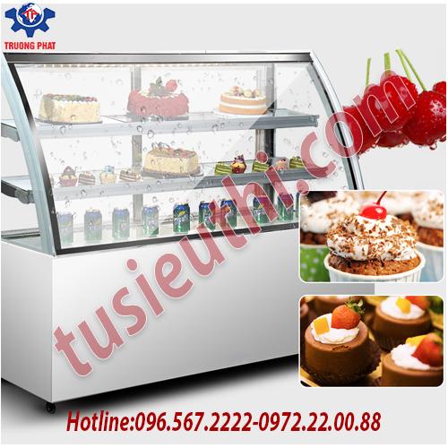 Tủ trưng bày bánh kem có mặt kính được làm bằng gì?