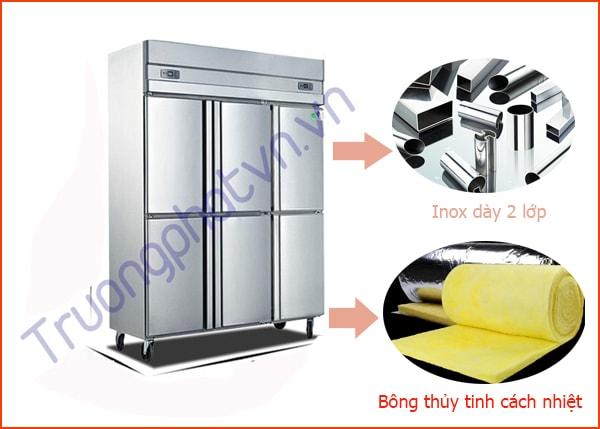 Tủ bảo ôn được thiết kế với chất liệu tiết kiệm điện