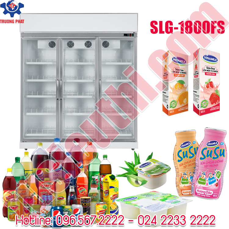Tủ Mát 3 Cánh Kính SLG-1800FS