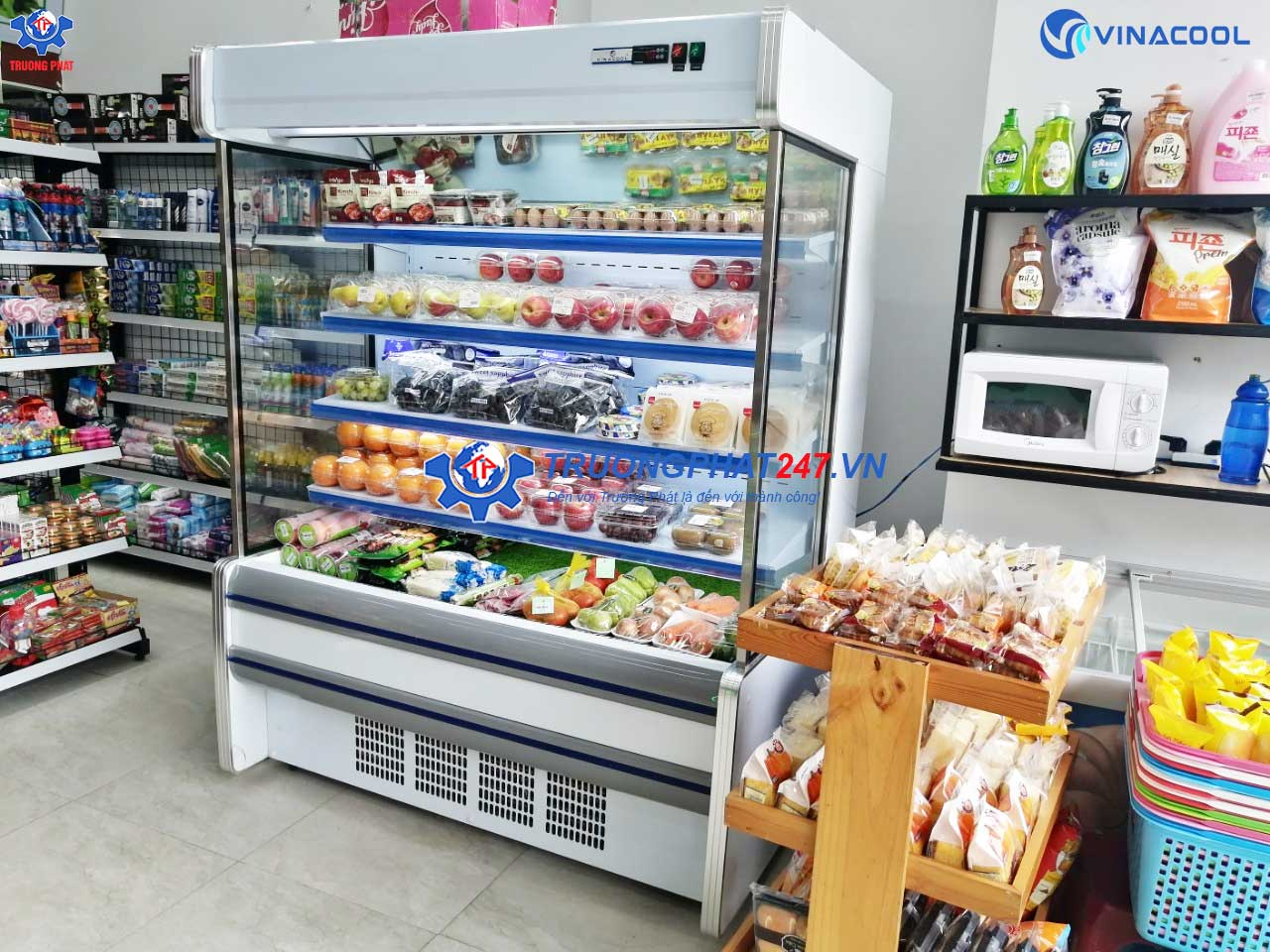 Có nên mua tủ lạnh đựng rau quả cho siêu thị hay không?